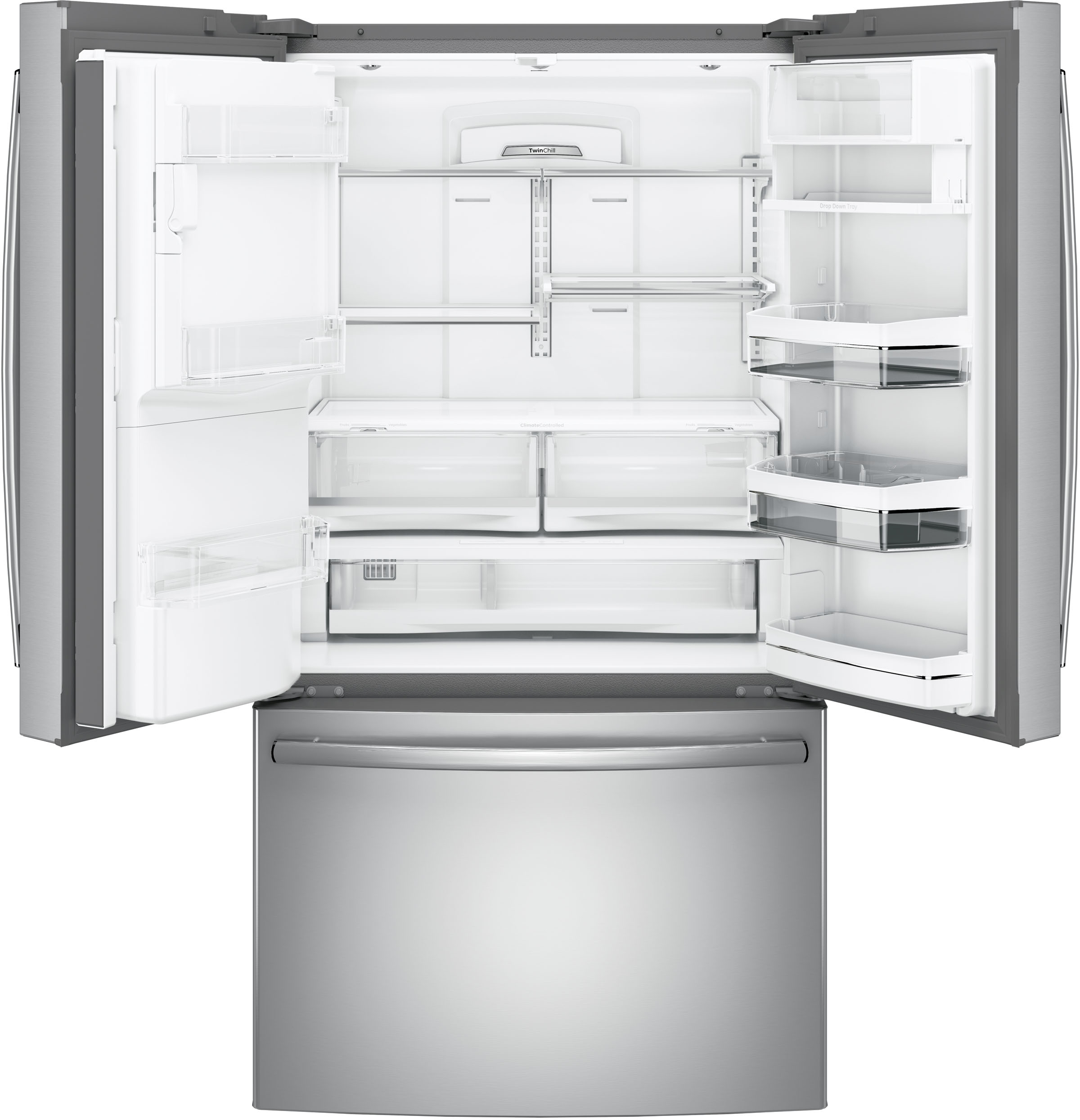 Ge Profile 22 23 Cu Ft Stainless Steel Counter Depth