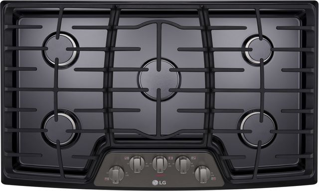 Black Stainless Steel Gas Cooktop