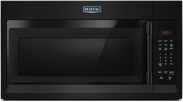 Maytag 174 1 7 Cu Ft Black Compact Over The Range Microwave