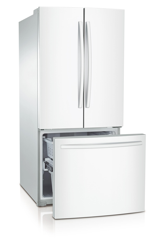 Samsung 22 Cu Ft French Door Refrigerator White Rf220nctaww
