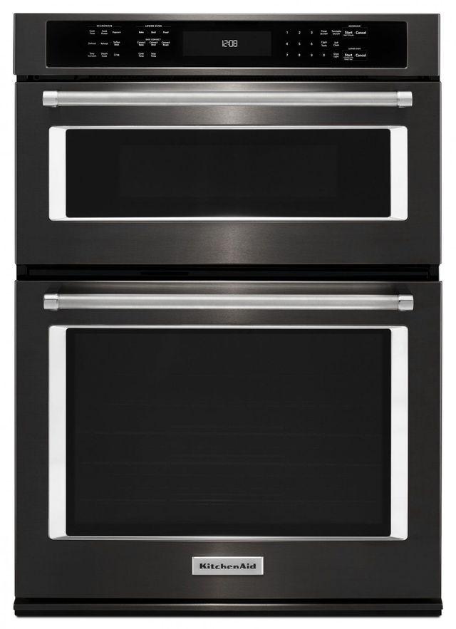 Kitchenaid 30 Black Stainless Steel
