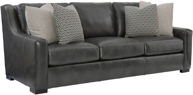 Bernhardt Germain Leather Sofa with Pillows-2667LO