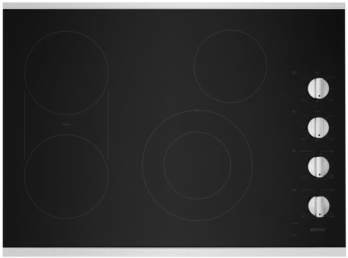 Maytag 30 Electric Cooktop Stainless Steel Mec8830hs