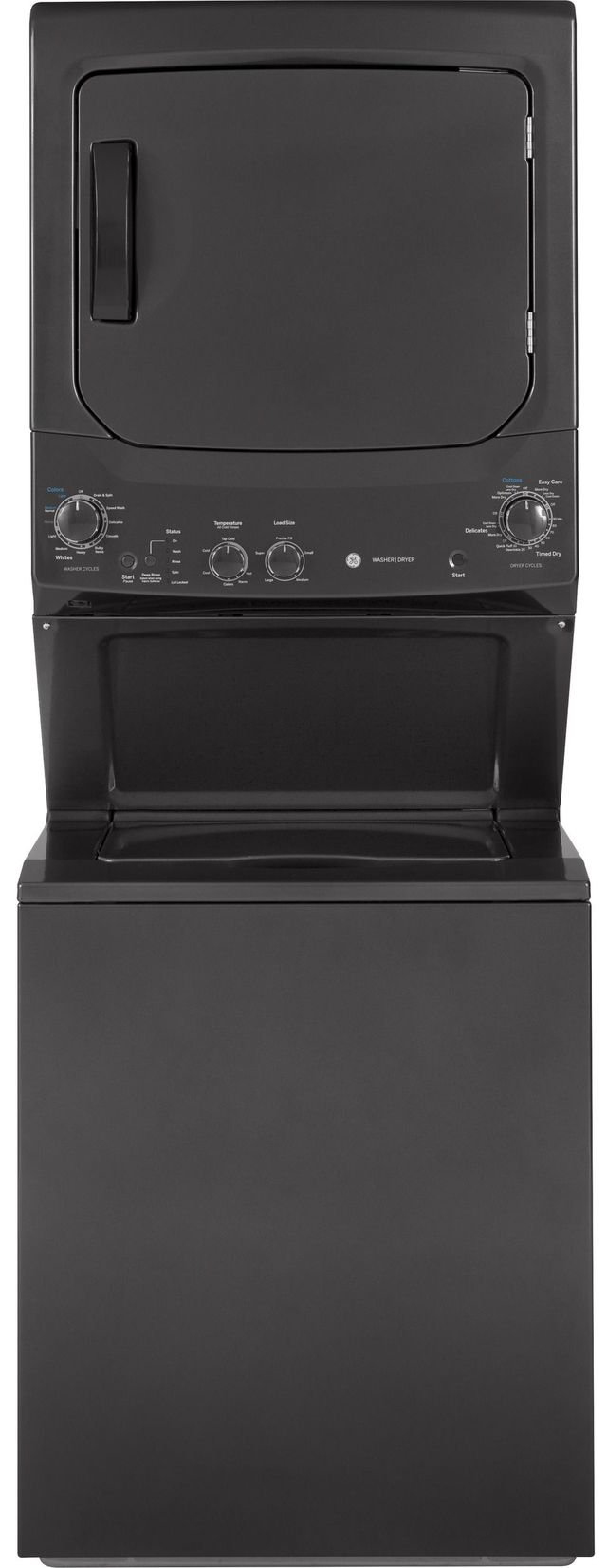 Ge 174 Unitized Spacemaker 174 Stack Laundry Diamond Gray