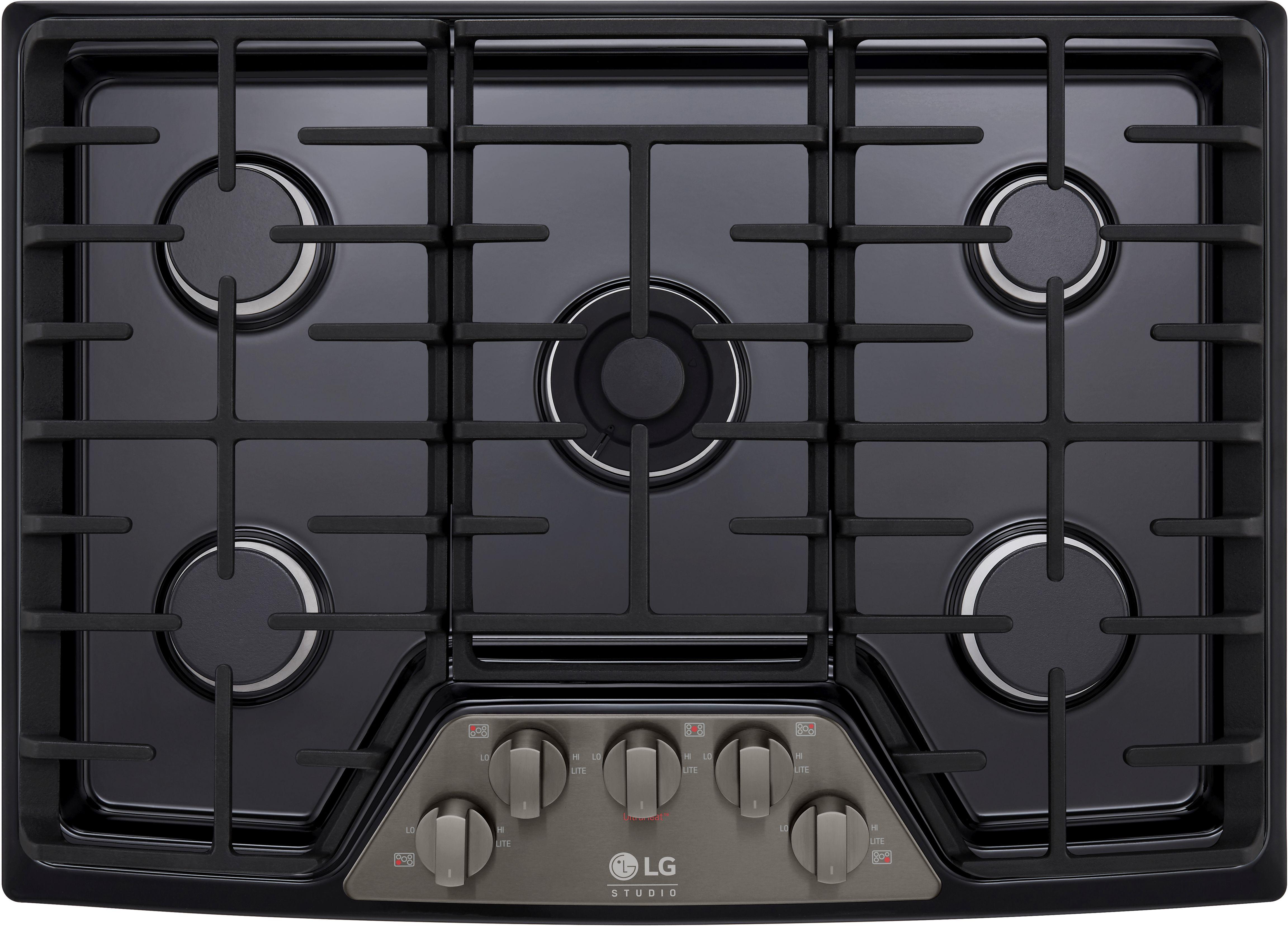 Lg Studio 30 Gas Cooktop Black Stainless Steel Lscg307bd