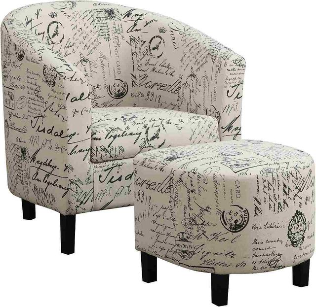 Coaster Everyday Transitional Multi Color Accent Chair: Coaster® Everyday Off White 2-Piece Upholstered Accent