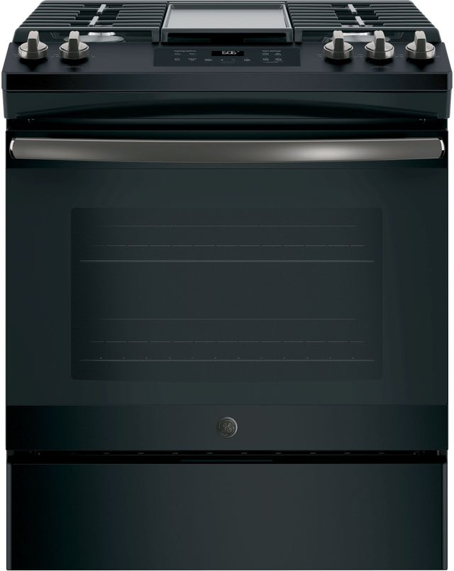 Ge 174 30 Slide In Gas Range Black Slate Jgss66felds Van S