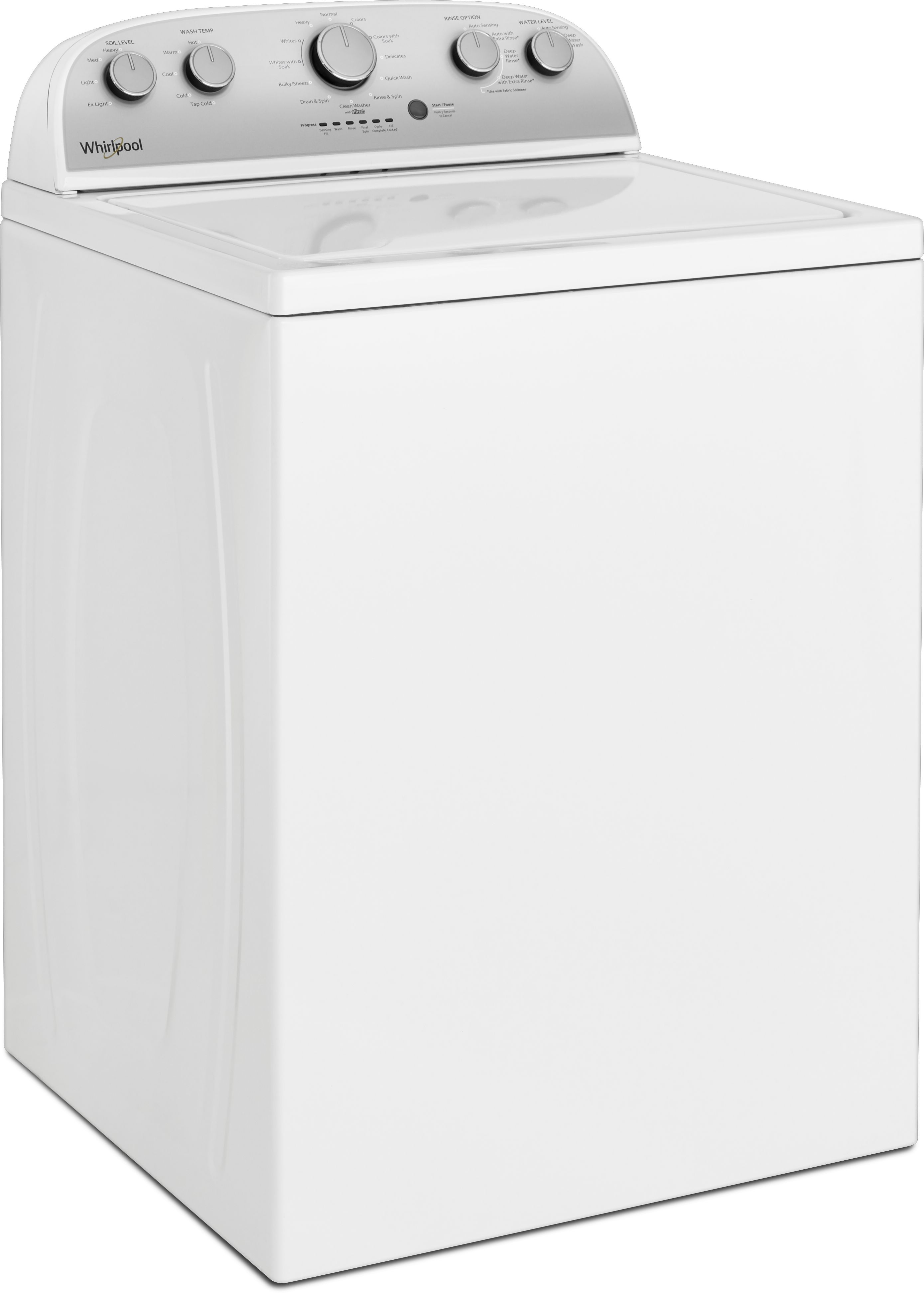 Whirlpool® Top Load Washer-White-WTW4950HW | Spencer's TV