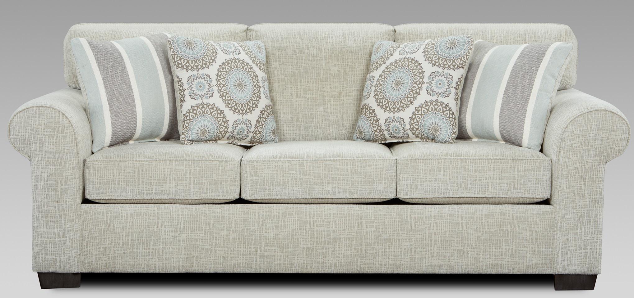 outlet store 7461d 0fddd Affordable Furniture Charisma Linen Queen Sleeper Sofa-3444