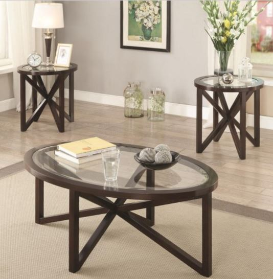 Coaster 3 Piece Occasional Table Set 701004