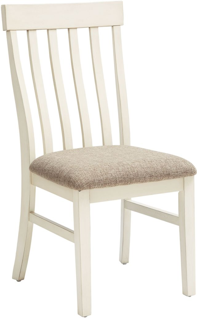 Benchcraft 174 Bardilyn Antique White Upholstered Dining Side
