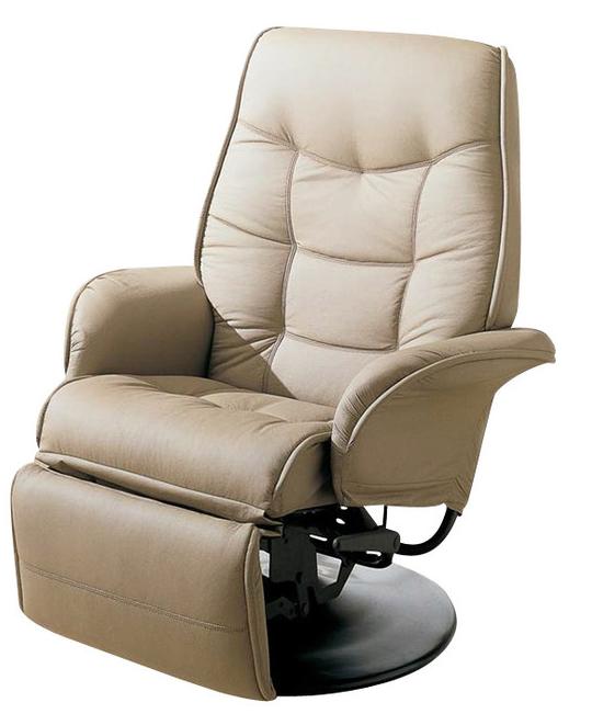 buchanan high leg leather recliner