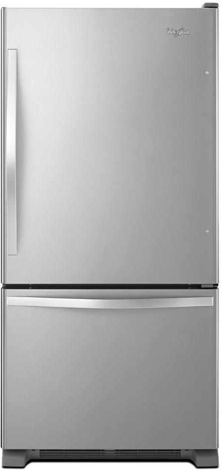 Whirlpool 174 19 0 Cu Ft Bottom Freezer Refrigerator