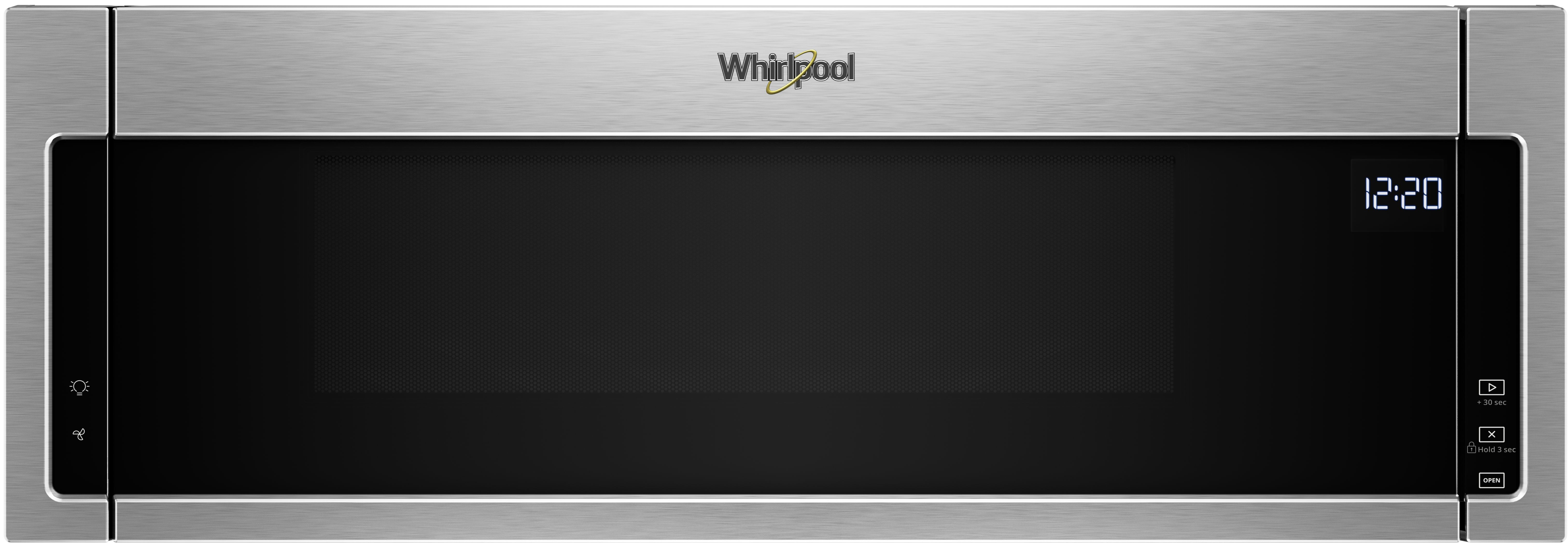 Whirlpool Over The Range Microwave Black On Stainless Wml55011hs
