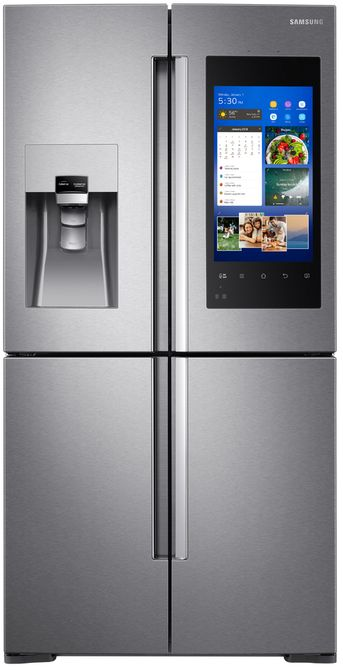 Samsung 22 Cu. Ft. Counter Depth 4 Door Flex™ Refrigerator Fingerprint ...