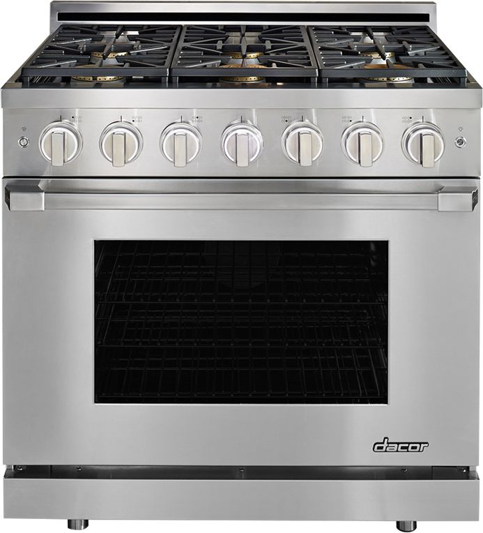 Dacor Heritage 36 Pro Style Gas Range Stainless
