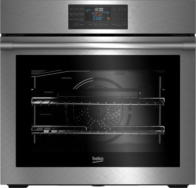 Beko 29 75 Electric Single Oven Built In Fingerprint Free Stainless Steel Wos30100ss