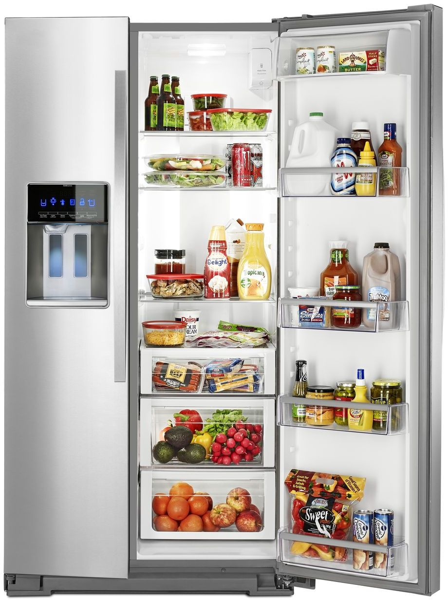 Ft side by side refrigerator monochromatic stainless