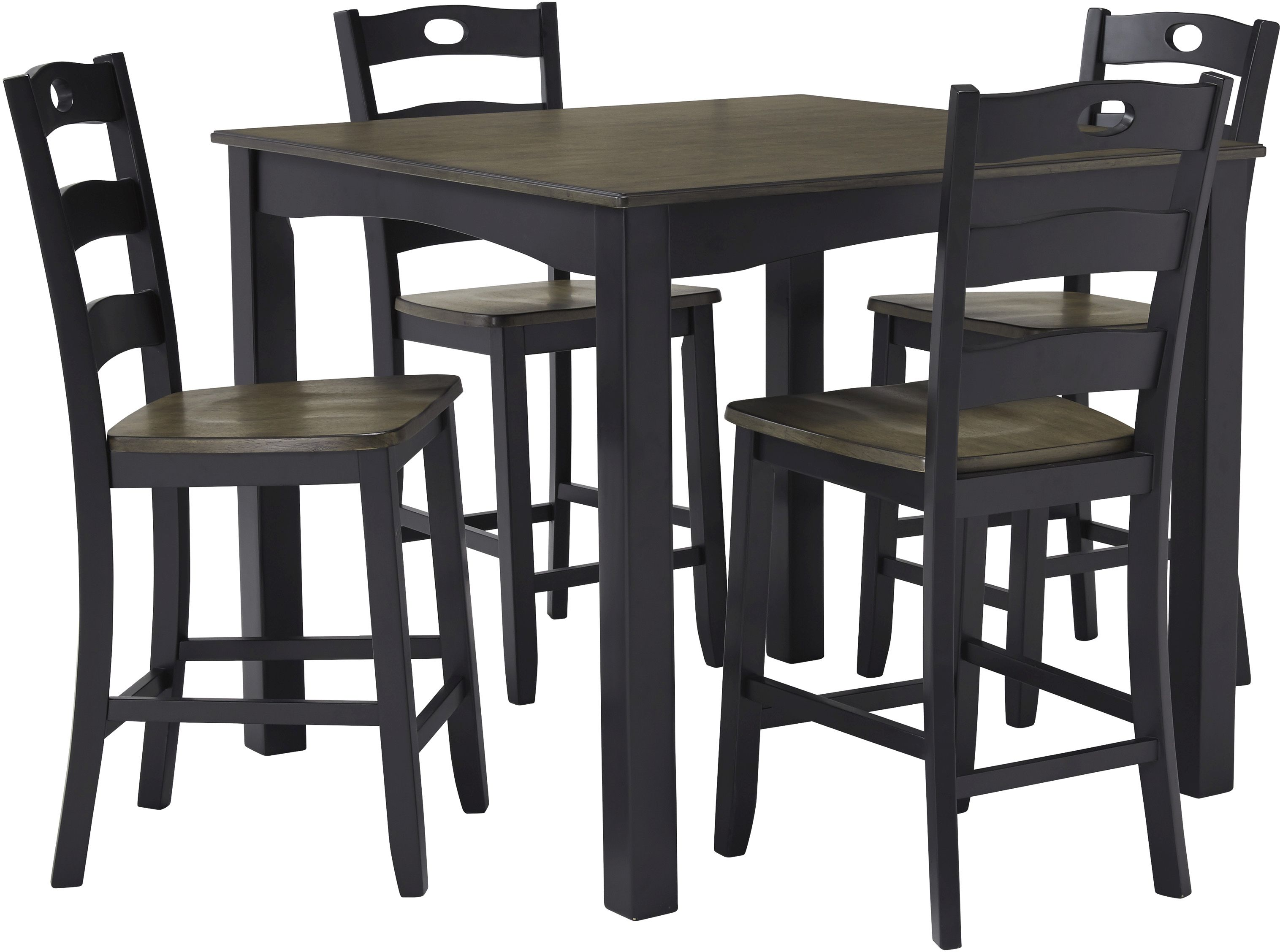 Table And Chair Sets Cb Brown Furniture Dining Ac 113 Signature Design By Ashley Froshburg 5 Piece Counter Height Set D338