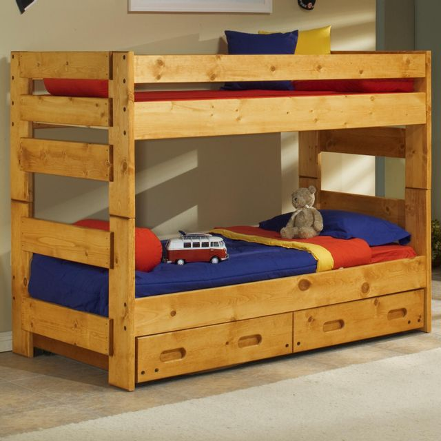 Trendwood Inc Bunkhouse Wrangler Cinnamon Twin Twin Bunk