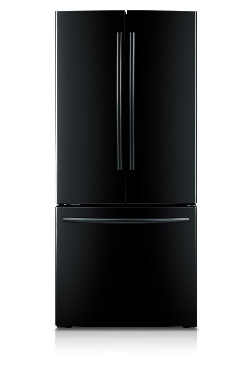 Samsung 22 Cu Ft French Door Refrigerator Black Rf220nctabc