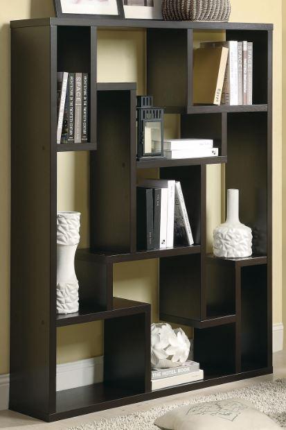 CoasterR Asymmetrical Bookshelf 800316