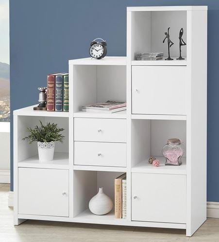 CoasterR Asymmetrical Bookshelf 801169