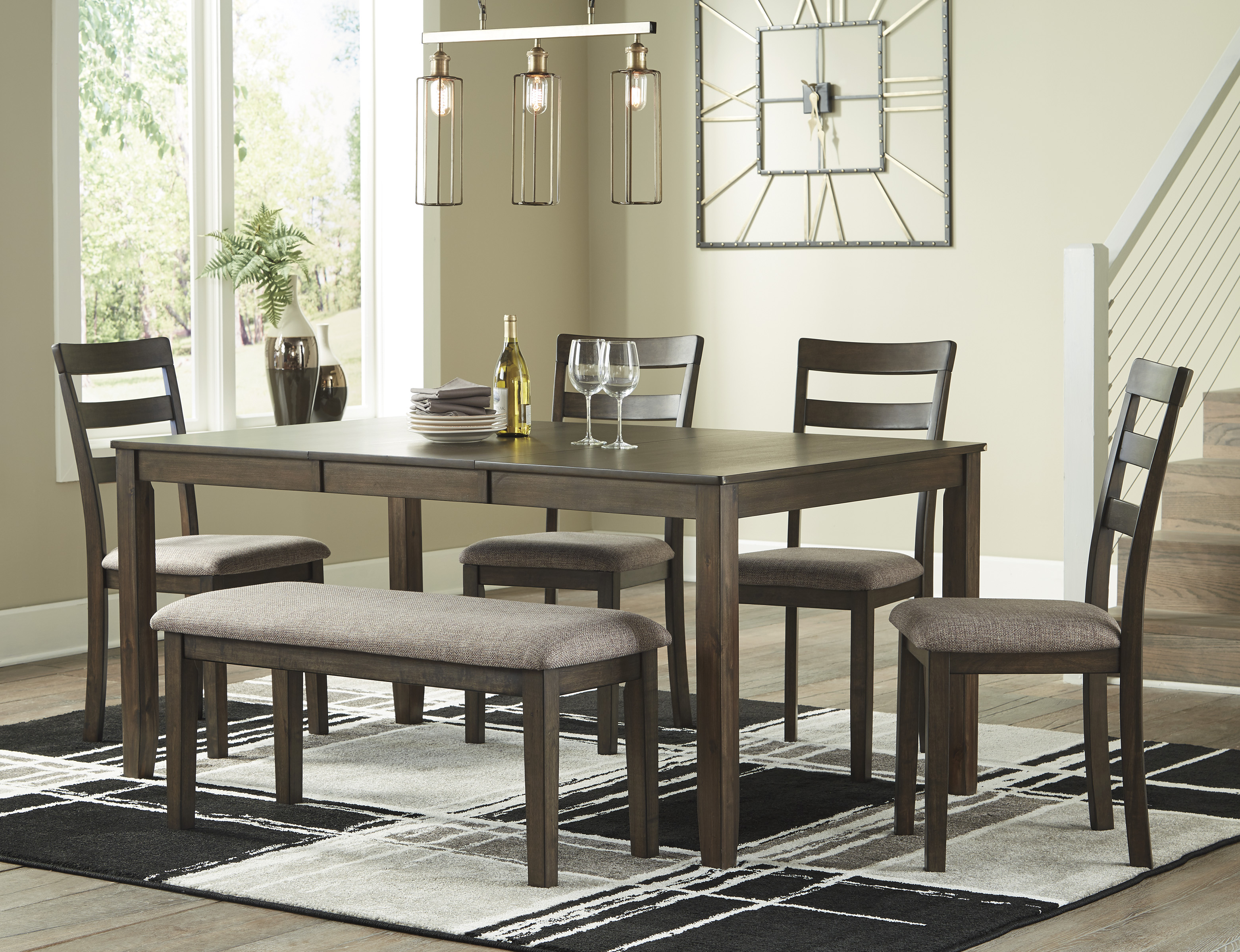 Benchcraft Drewing Brown Dining Room Extension Table Set D358 01