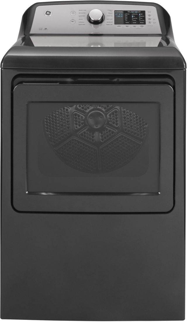 Ge 174 7 4 Cu Ft Diamond Gray Front Load Electric Dryer