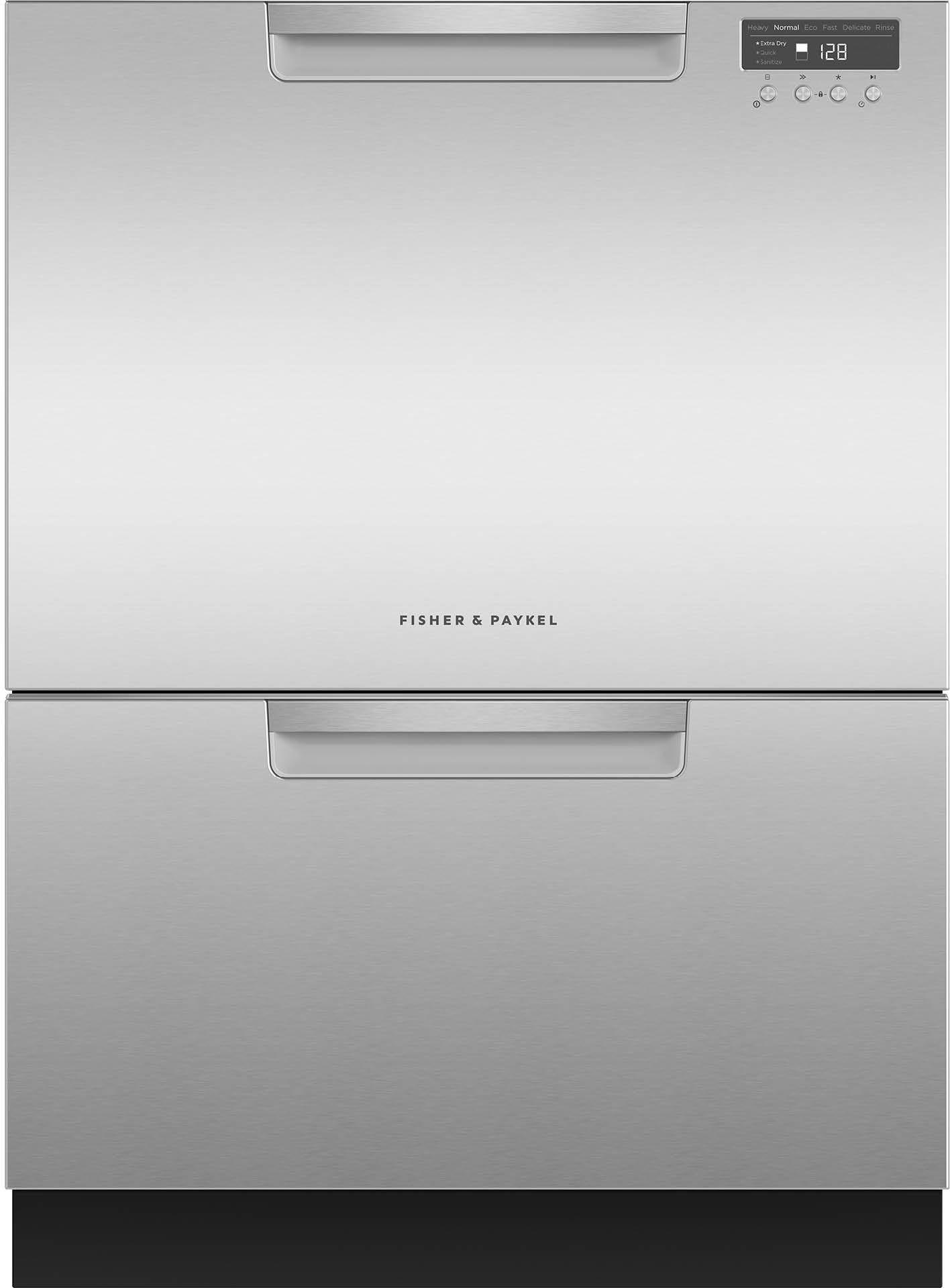 "Fisher Paykel DishDrawer™ 23.56"" Double Dishwasher-EZKleen Stainless  Steel-DD24DCTX9 N"