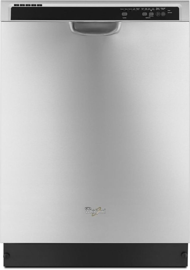 Whirlpool 24 Built In Dishwasher Monochromatic Stainless Steel Wdf540padm
