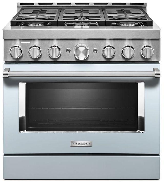 Kitchenaid 174 35 88 Quot Misty Blue Smart Commercial Style Gas