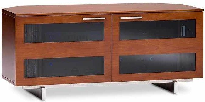 & BDI Avion® Corner Media Cabinet-Natural Stained Cherry-8925-CHERRY