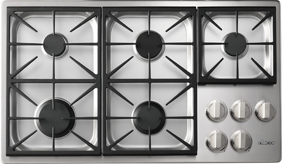 Dacor Heritage 36 Professional Gas Cooktop Stainless Steel Hpct365gs Ng