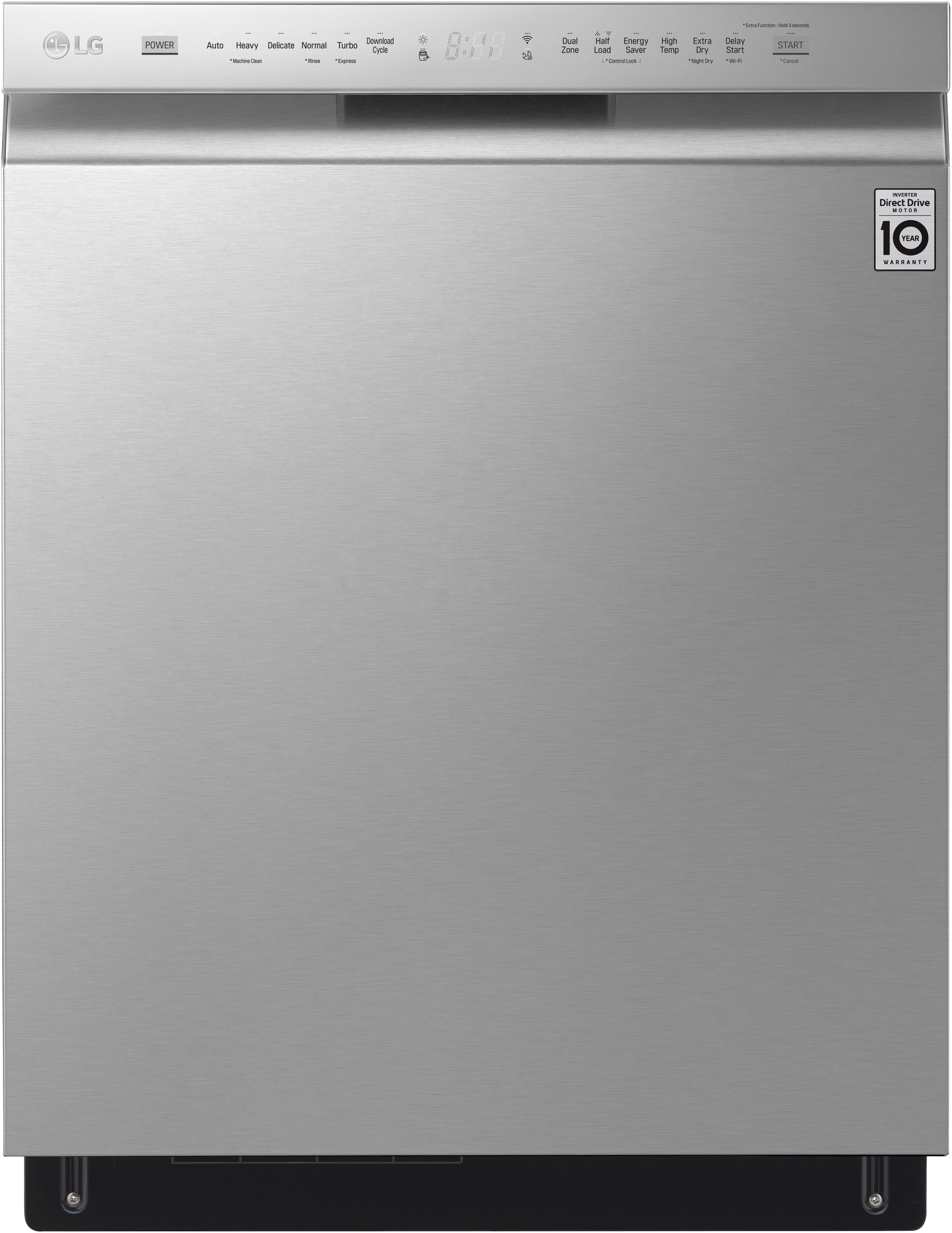 """LG 23 75"""" Built In Dishwasher-Stainless Steel-LDF5678ST"""
