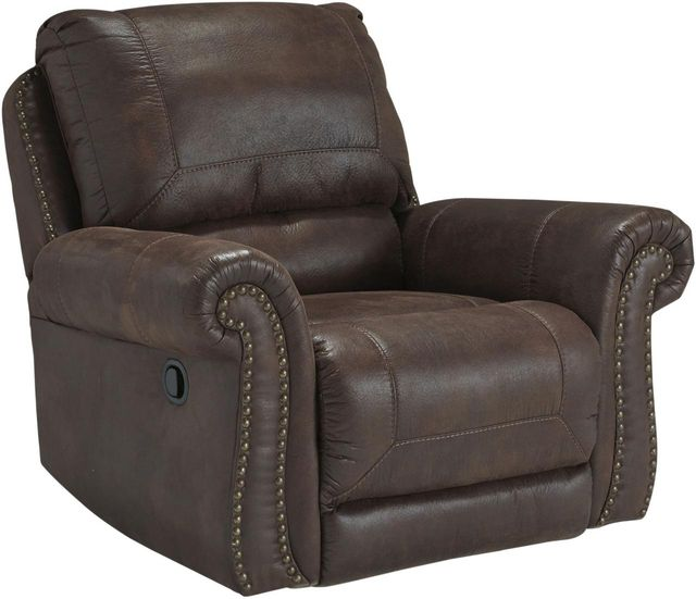Parra Furniture Appliance Center: Benchcraft® Breville Espresso Rocker Recliner-8000325