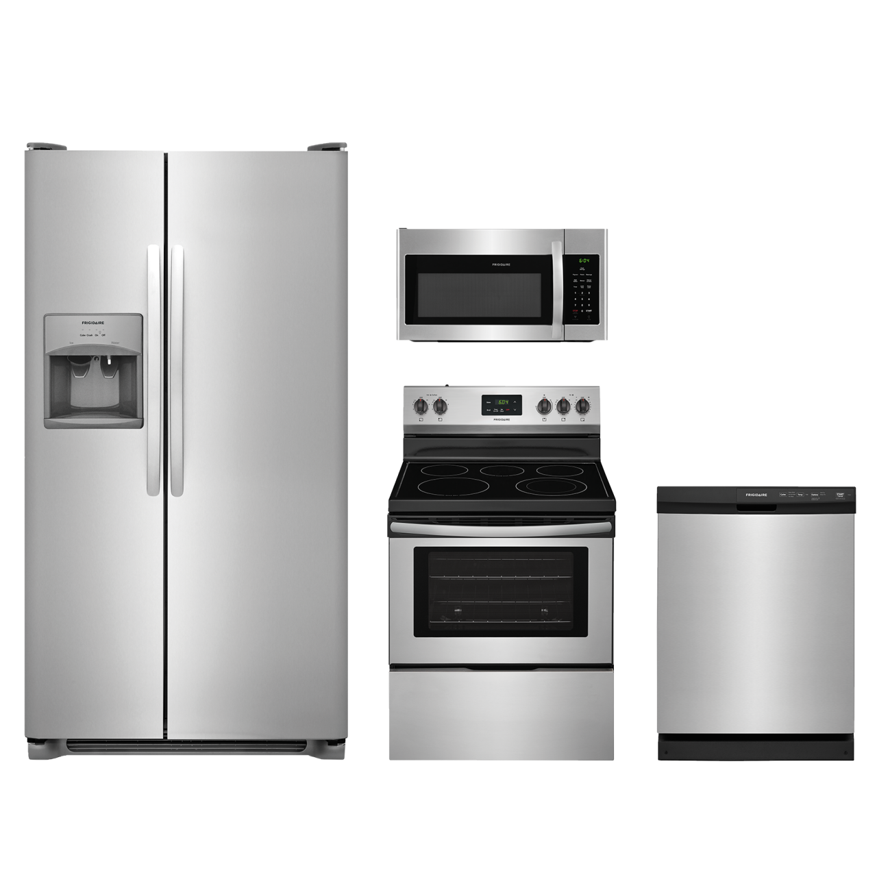 Bon Frigidaire® 4 Piece Kitchen Package Stainless Steel FRKITFFCD2413US