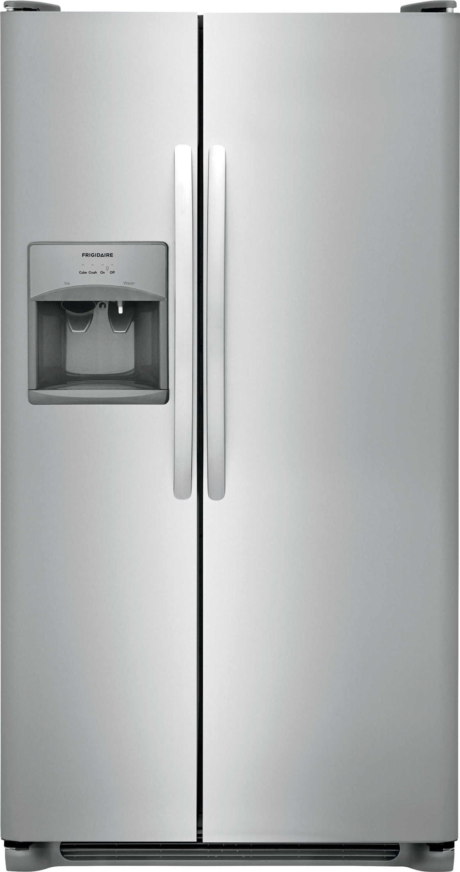 frigidaire 22 cu ft standard depth side by side refrigerator ffss2315t. Black Bedroom Furniture Sets. Home Design Ideas