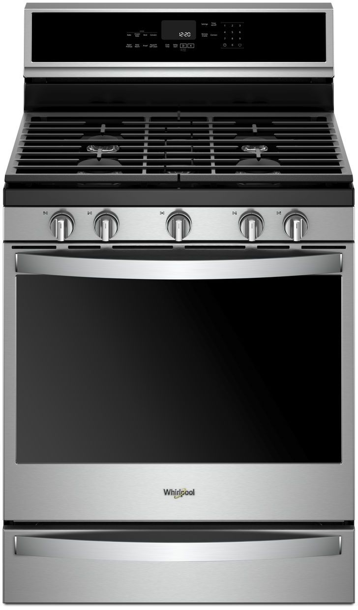 Whirlpool 30 Freestanding Gas Range Fingerprint Resistant Stainless Steel Wfg975h0hz