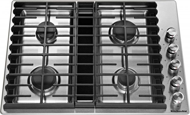 Kitchenaid 30 Stainless Steel Gas Downdraft Cooktop Kcgd500gss