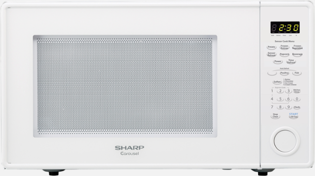 Sharp Carousel Countertop Microwave Oven White R559yw