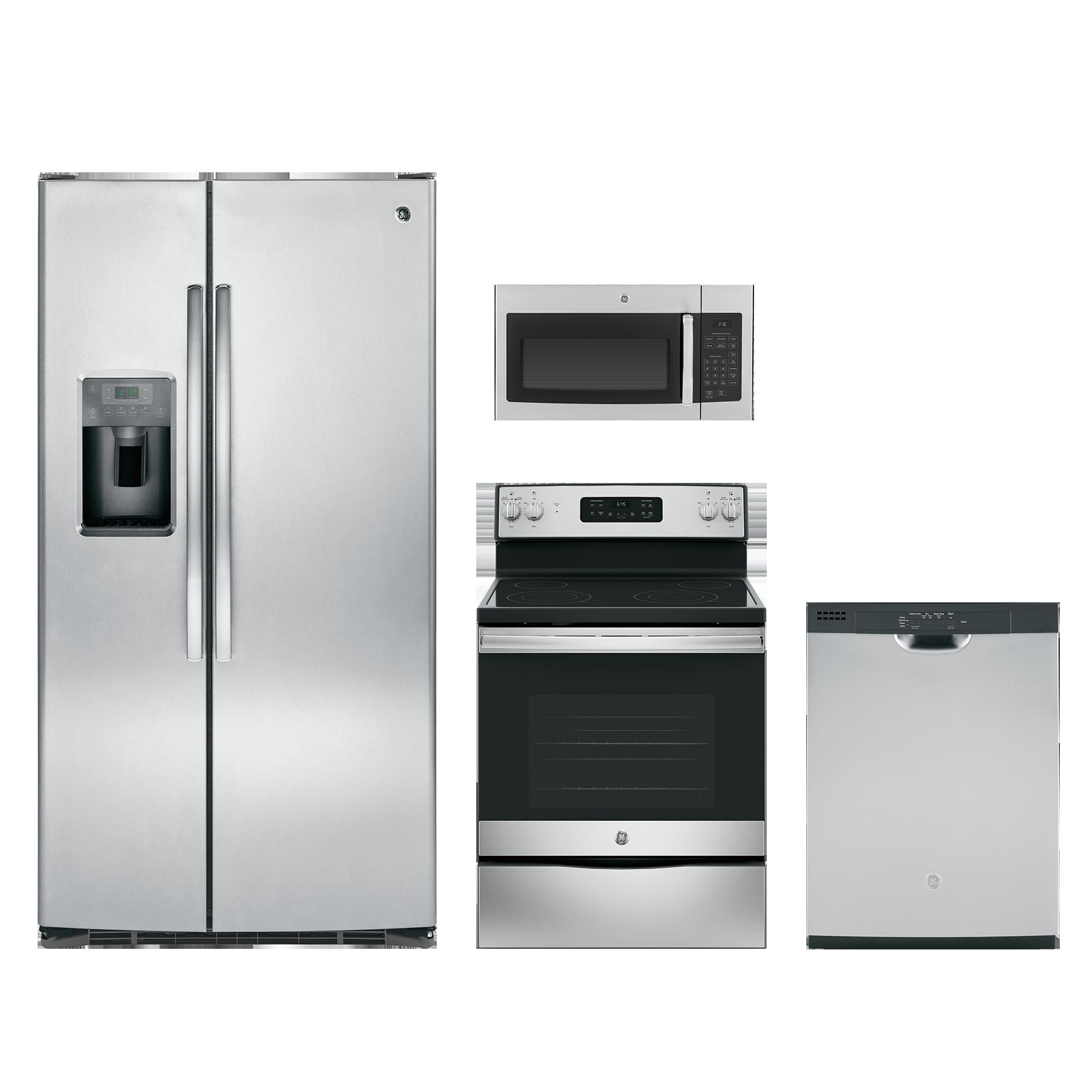 GE® 4 Piece Kitchen Package Stainless Steel GEKITGDF510PSMSS