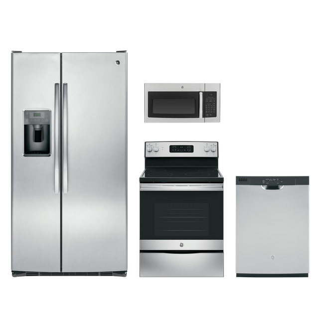 GE® 4 Piece Kitchen Package-Stainless Steel-GEKITGDF510PSMSS