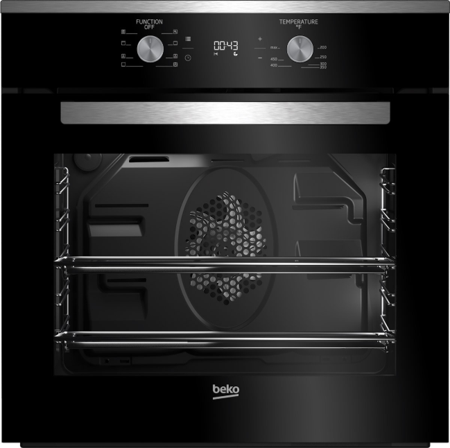 Beko 23 38 Electric Single Oven Built In Fingerprint Free Stainless Steel Wos24102ss