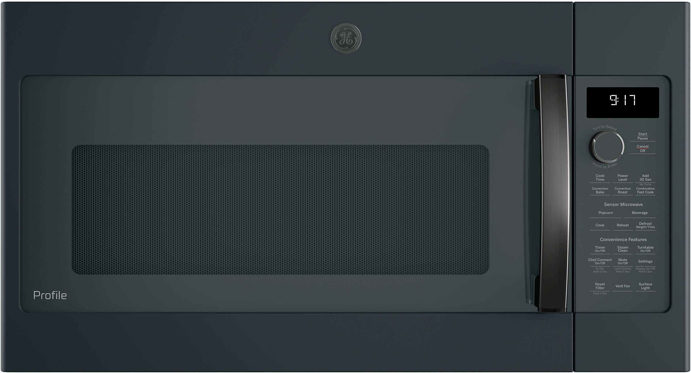 Ge Profile Over The Range Microwave Black Slate Pvm9179flds