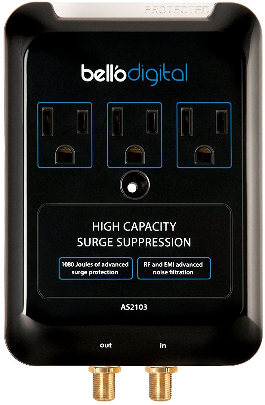 Bell O 3 Outlet Audio Video Surge Protector As2103