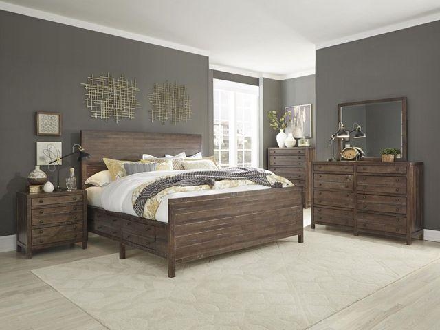 Standard Furniture 3 Piece Edinburg Rustic King 2-Drawer Storage Bedroom  Set-80702+8+9+11+13