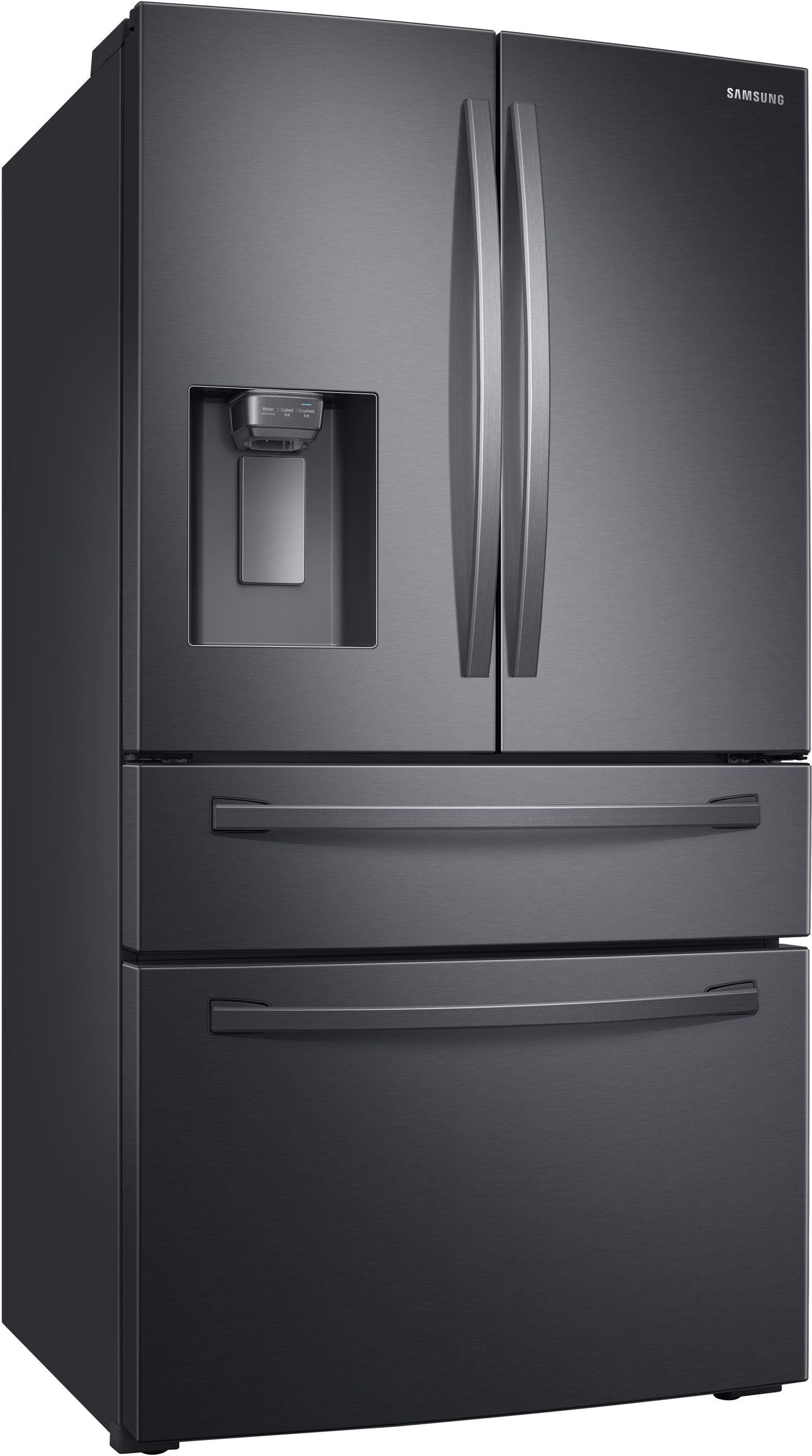 Samsung 22 6 Cu Ft Fingerprint Resistant Black Stainless