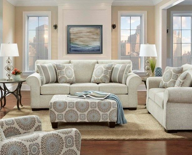 Wondrous Buy The Charisma Linen Sofa And Loveseat And Get Accent Chair Free Kit3443 Creativecarmelina Interior Chair Design Creativecarmelinacom
