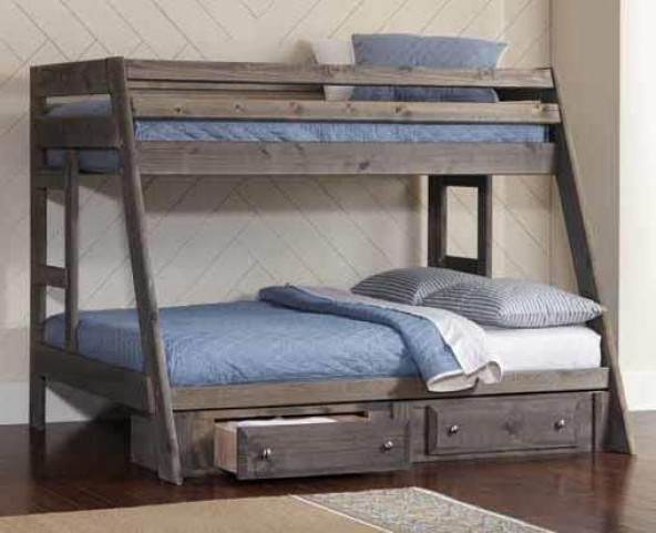 Coaster Wrangle Hill Twin Over Full Bunk Bed 400830 Matthews Mattress